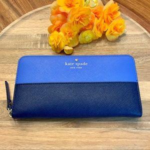 Kate Spade Blue Color Block Continental Wallet